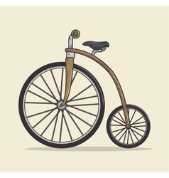 vintage Bicycle isolated icon design vector image