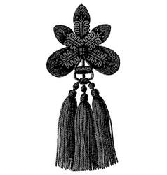 vintage engraving a tassel vector image