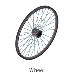 wheel bicycle icon isometric 3d style vector image