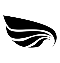 Wing modern stripes icon graphic vector