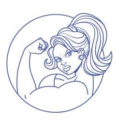 woman biceps bodybuilding vector image