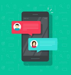 chat messages notification on smartphone vector image vector image