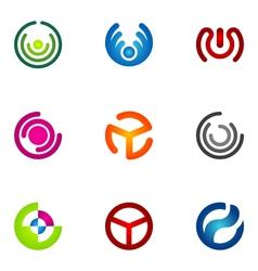 logo design elements set 69 vector image