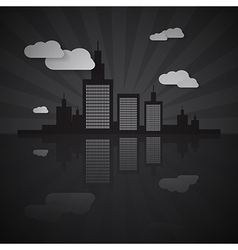 Night City Scape vector image vector image