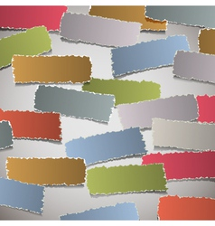 background with torn paper banners vector image vector image