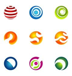 logo design elements set 70 vector image vector image