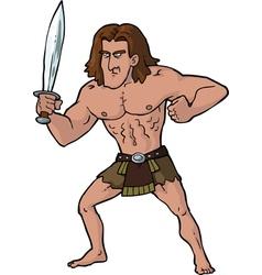 ancient warrior with sword vector image