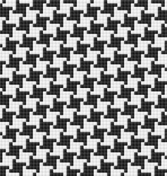 hounds tooth pattern vector image vector image
