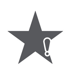 star icon with exclamation mark vector image