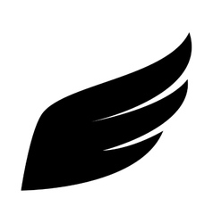 wing modern symbol icon graphic vector image