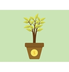 invest investment tree with money gold coins vector image