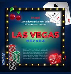 las vegas background design vector image