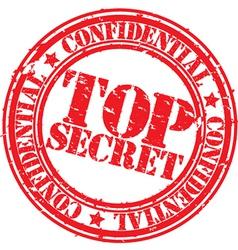 Top secret stamp vector image