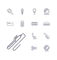 13 salon icons vector