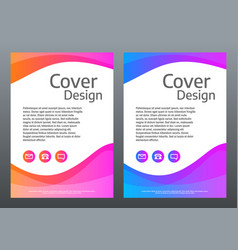 abstract colorful template bright gradient waves vector image