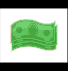 abstract dollars icons isolated on white backdrop vector image