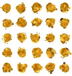 Abstract gold speech bubble EPS 8 vector