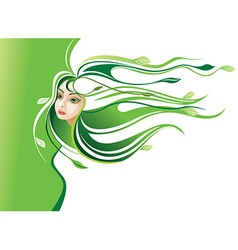 Abstract Nature Girl vector