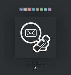 Answering machine icon vector