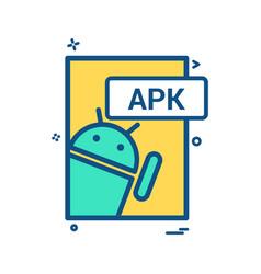 apk file format icon design vector image