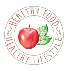 Apple Healthy Food vector image