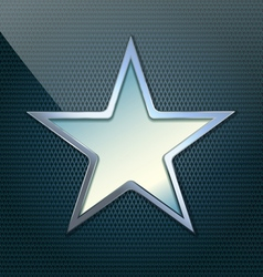 Blue simple star vector