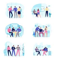 Business meeting set vector