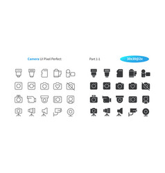 Camera ui pixel perfect well-crafted thin vector