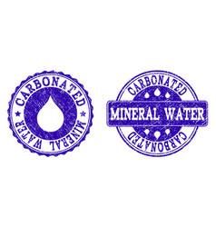 carbonated mineral water grunge stamp seals vector image