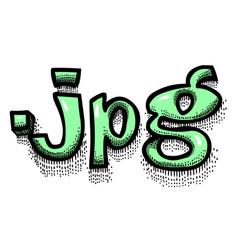 cartoon image of jpg document vector image