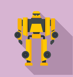 Cinema robot transformer icon flat style vector