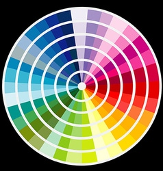 Color round palette on black background vector image