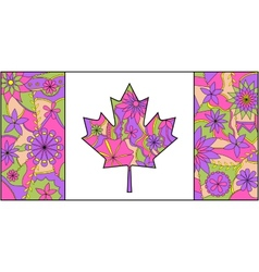 Colorful flag of Canada vector image