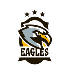 colorful logo sticker emblem of a eagle flying vector image