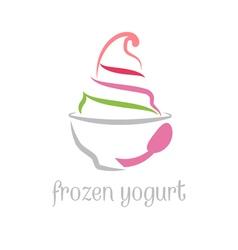 Concept frozen yogurt vector