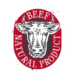 cow logo design template beef or meat icon vector image