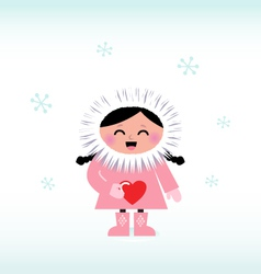 cute eskimo vector image