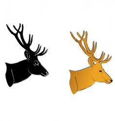deer profile vector image