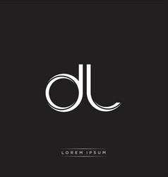 Dl initial letter split lowercase logo modern vector