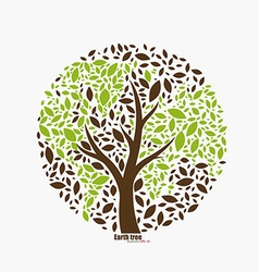 Earth tree vector