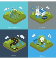 Ecology Isometric Compositions vector image