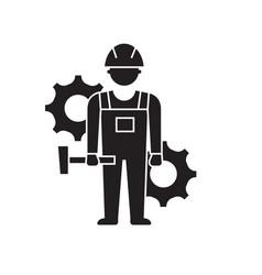 engineering performance black concept icon vector image