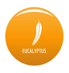 Eucalyptus leaf icon orange vector