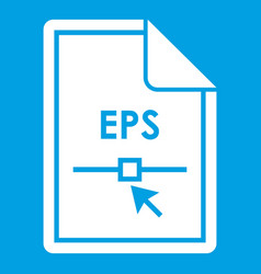 File eps icon white vector