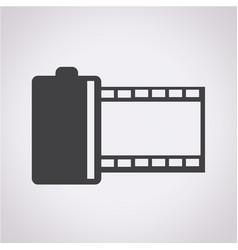 film tape icon vector image
