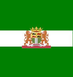 Flag of rotterdam of netherlands vector