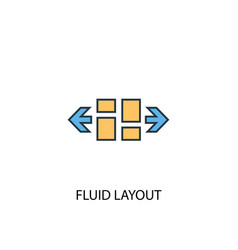 fluid layout concept 2 colored line icon simple vector image