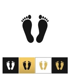 Footprints or human foot prints icon vector
