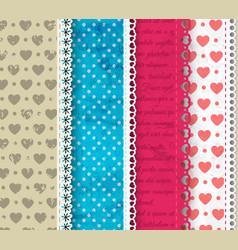 four textile composition vector image