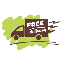 Free delivery for business vector